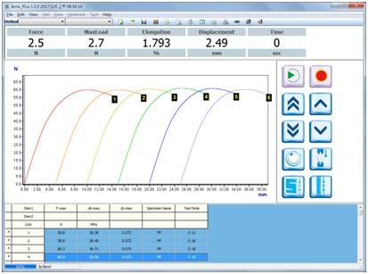 Phần mềm của máy peel test QC-507M1F